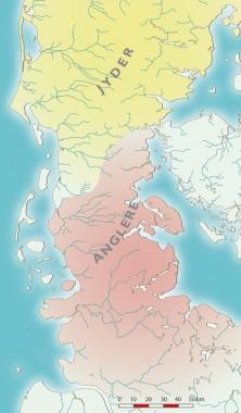 Omkring 200 e.Kr. er Over Jerstal-kredsens bønder, krigere og fyrster blevet opslugt, fordrevet eller udryddet. Tegning: Jørgen Andersen.