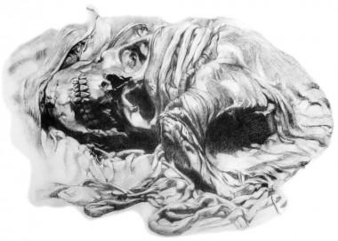 Tegning af kunstmaler Johannes Glob fra  nov. 1935.
