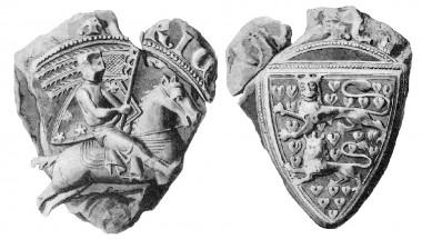 1. Segl tilhørende bygherren, hertug Erik 1. Abelssøn.
