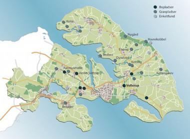 Bebyggelsen har koncentreret sig på midten af det vestlige Als og i det sydlige Sundeved.
