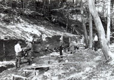 Arbejdssituation fra udgravningen.