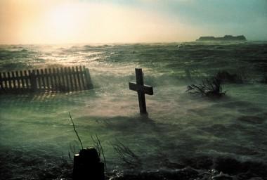 Set fra kirken på Hallig Hooge. Foto: Bernhard Speck.