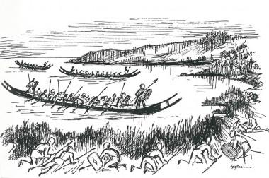Et muligt scenario tegnet af H. Ørsnes (fra Kaul 1988, Fig. 23).
