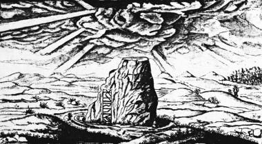 Afbildet på Johann Daniel Majors håndtegning fra 1692. Foto: Karsten Kristiansen (efter Det Kongelige Bibliotek).