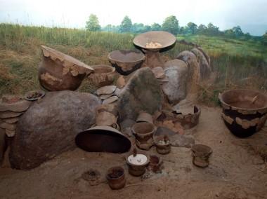 Rekonstruktionen kan ses i Arkæologi Haderslevs oldtidsudstillinger i Haderslev.