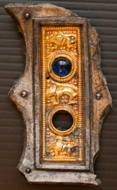 Ejsbøl bæltebeslag med glasdekoartion