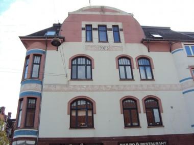 Her har man valgt at pudse facaden, hvilket giver et helt andet udseende og andre dekorationsmuligheder.