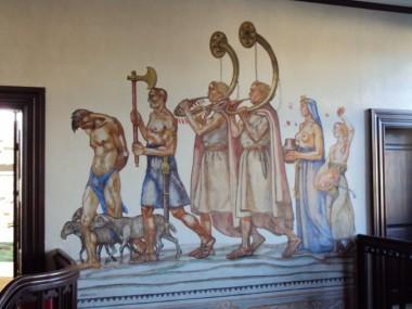 Det var tidligere mere almindeligt at dekorere stuer, kirkerum, etc. ved at male direkte på væggen.