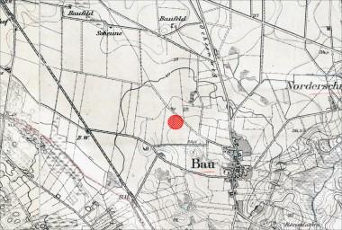 1. Preussisk kort fra 1880'erne  med Gammeltofts placering tæt ved Bov.