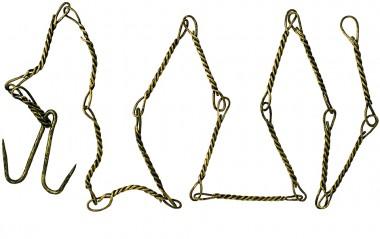 Forfanget bliver placeret yderst på fiskesnoren, når man fanger gedder. Ellers bider de fiskesnoren over.