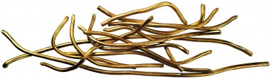 Hærførerens pengebeholdning  i form af 600 gram guldstænger.
