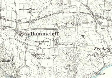 [:da]På kortet, fra omkring 1880, ses Søndergårds beliggenhed i forhold til Hammelev. Zgl = teglværk.[:de]På kortet fra omkring 1880 ses Søndergårds beliggenhed i forhold til Hammelev. Zgl = teglværk.[:]