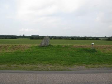 Stenen står ved hærvejen nord for Hovslund. Foto: Tenna Kristensen.