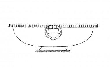 Tegning af bronzefad type Eggers 91.
