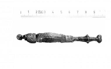 Fundet ved udgravning nr. 2. Foto: Lennart Larsen.