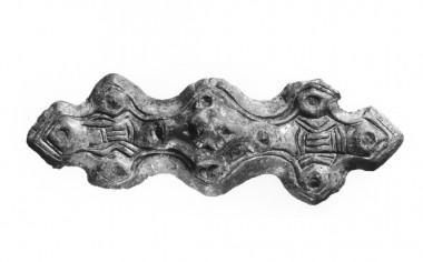 Fundet ved udgravning nr. 3. Den kan ses i udstillingen på Arkæologi Haderslev. Foto: Lennart Larsen.
