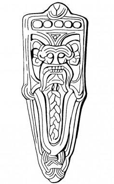 Fundet i grubehus og dateret til ca. 850.
