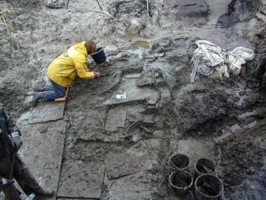 3. Udgravningen  i dødeishullet ved Slotseng.